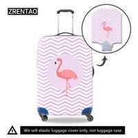 Gestreiften Erwachsene flamingo Verdickt Gepäck Schutzhülle für 18-32 Zoll Trolley Fällen Elastische Koffer Tasche Staub Regen Abdeckungen