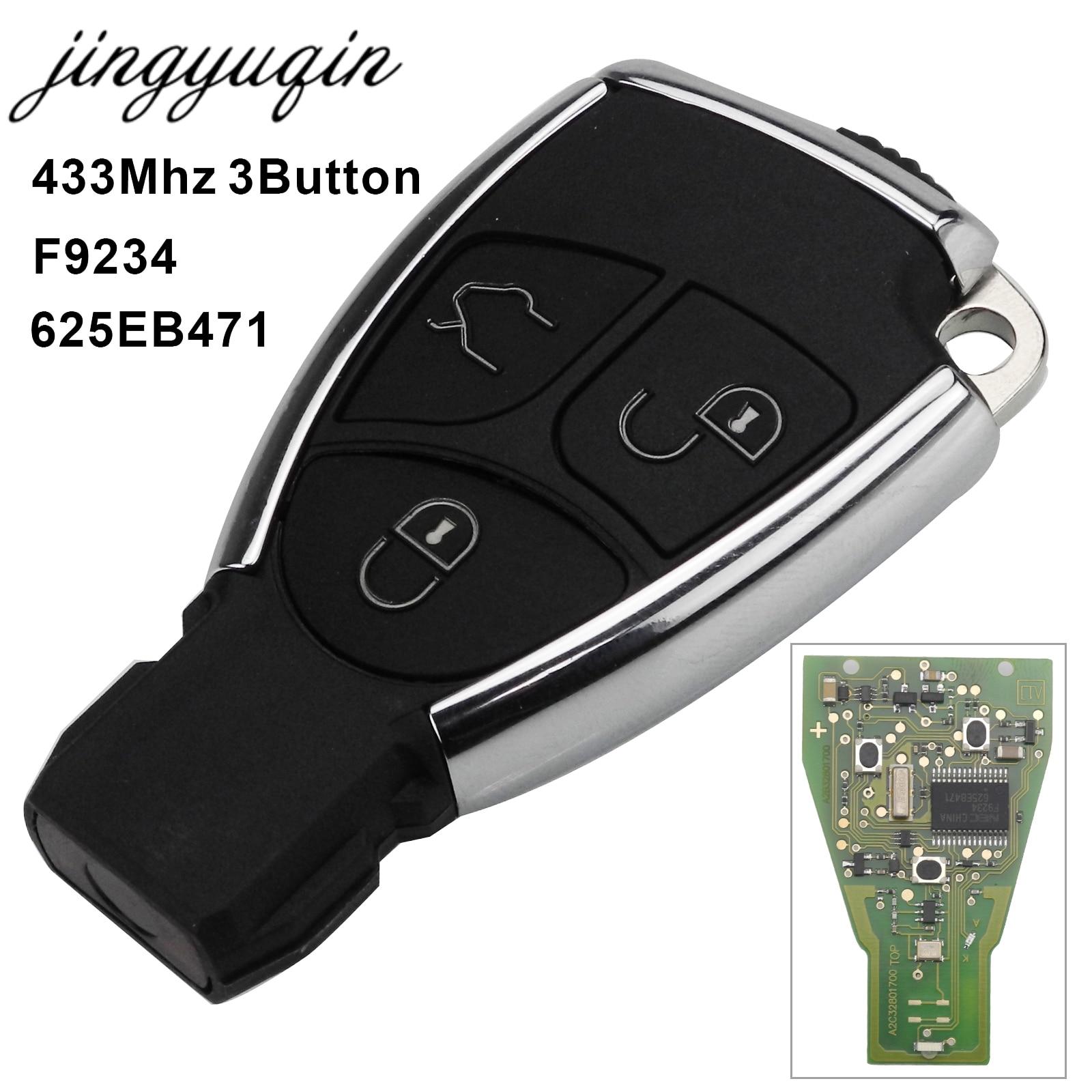 Jingyuqin Modifié Chrome 3 Boutons À Distance Clé Fob Pour Mercedes Benz B C E ML S CLK CL 433 mhz complte Contrôle Circuit Conseil