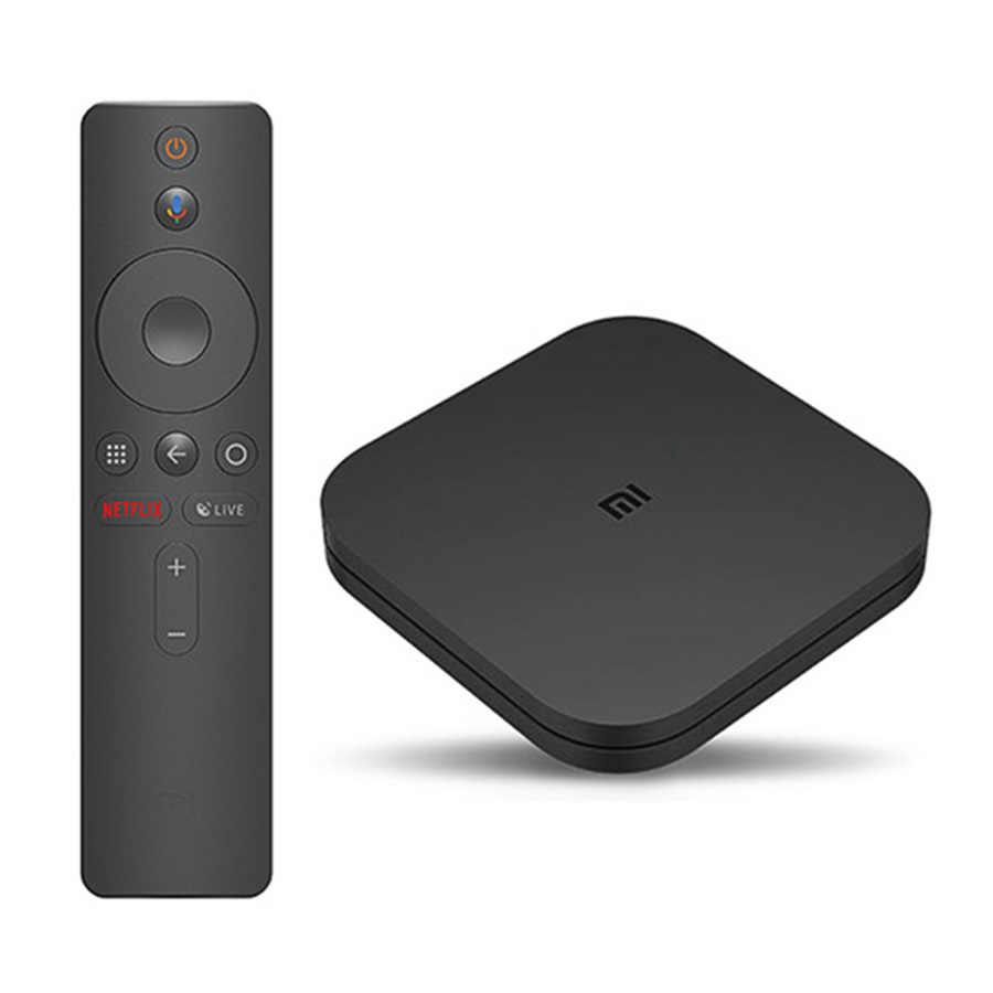 الأصلي العالمي شياو mi mi صندوق التلفزيون S 4K HDR أندرويد TV 8.1 الترا HD 2G 8G واي فاي جوجل يلقي Netflix IPTV مجموعة صندوق فوقي 4 مشغل الوسائط