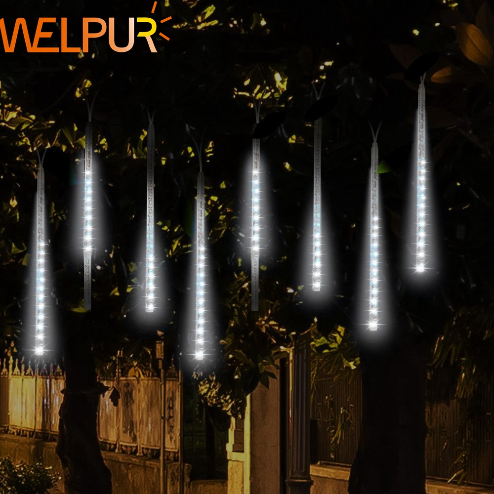 Waterproof 8 Tube Holiday Meteor Shower Rain LED String Lights For Indoor Outdoor Gardens Xmas Christimas Party Decor Tree