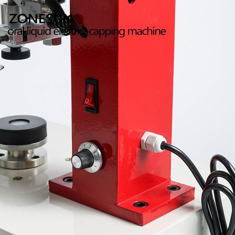 ZONESUN 10-35mm penicillin bottle capper, Antibiotics bottle Crimper,perfume oral liquid solution electric capping machine