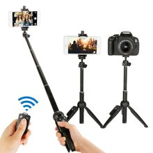 3 in 1 Yunteng YT-9928 Handheld Tripod Selfie Stick with Bluetooth Remote For iPhone X XS MAx Sumsang Galaxy Huawei Gopro 7 6 5(China)