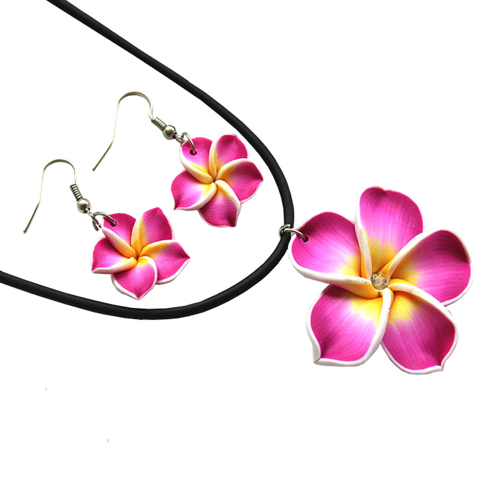 Fashion holiday accessories cheap promotion jewelry sets hawaiian fashion holiday accessories cheap promotion jewelry sets hawaiian flower with crystal necklace earring set for women or kids in jewelry sets from jewelry izmirmasajfo