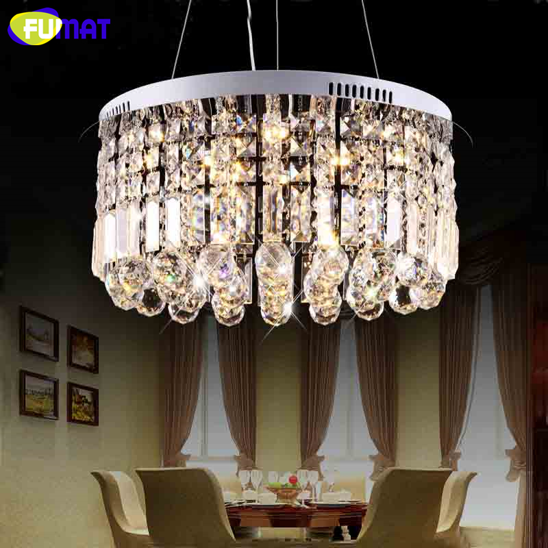 FUMAT Brief K9 Crystal Pendant Lights LED Chrome Finished Art Ceiling For Living Room Dining Room Lamps Lustre Pendant Lamps a1 master bedroom living room lamp crystal pendant lights dining room lamp european style dual use fashion pendant lamps