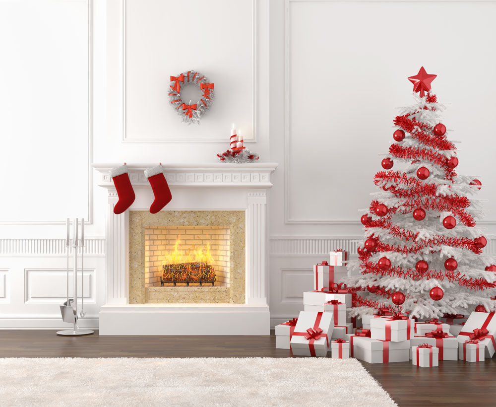 Vinyl custom Photography Backdrops Prop Christmas tree &fireplace Digital Printed Christmas theme Photo Studio Background CR-51 shanny vinyl custom photography backdrops prop digital printed christmas day photo studio background ntwg 593
