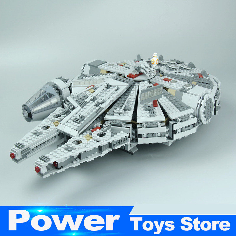 LEPIN 05007 New Star Wars Millennium Falcon Toys Educational building blocks marvel Kids Toy Compatible legoed 10467 color metal 3d puzzle star wars millennium falcon for adult 2016 new batman flying wing kylo ren shuttle 3d nano jigsaw puzzles