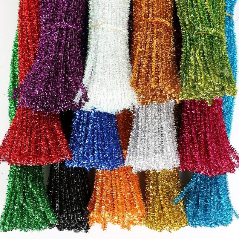 100 шт. 5 мм синель стебли красочные трубы Очистители для детей плюшевая обучающая игрушка ремесла трубы очиститель игрушечные лошадки ручной работы DIY Craft