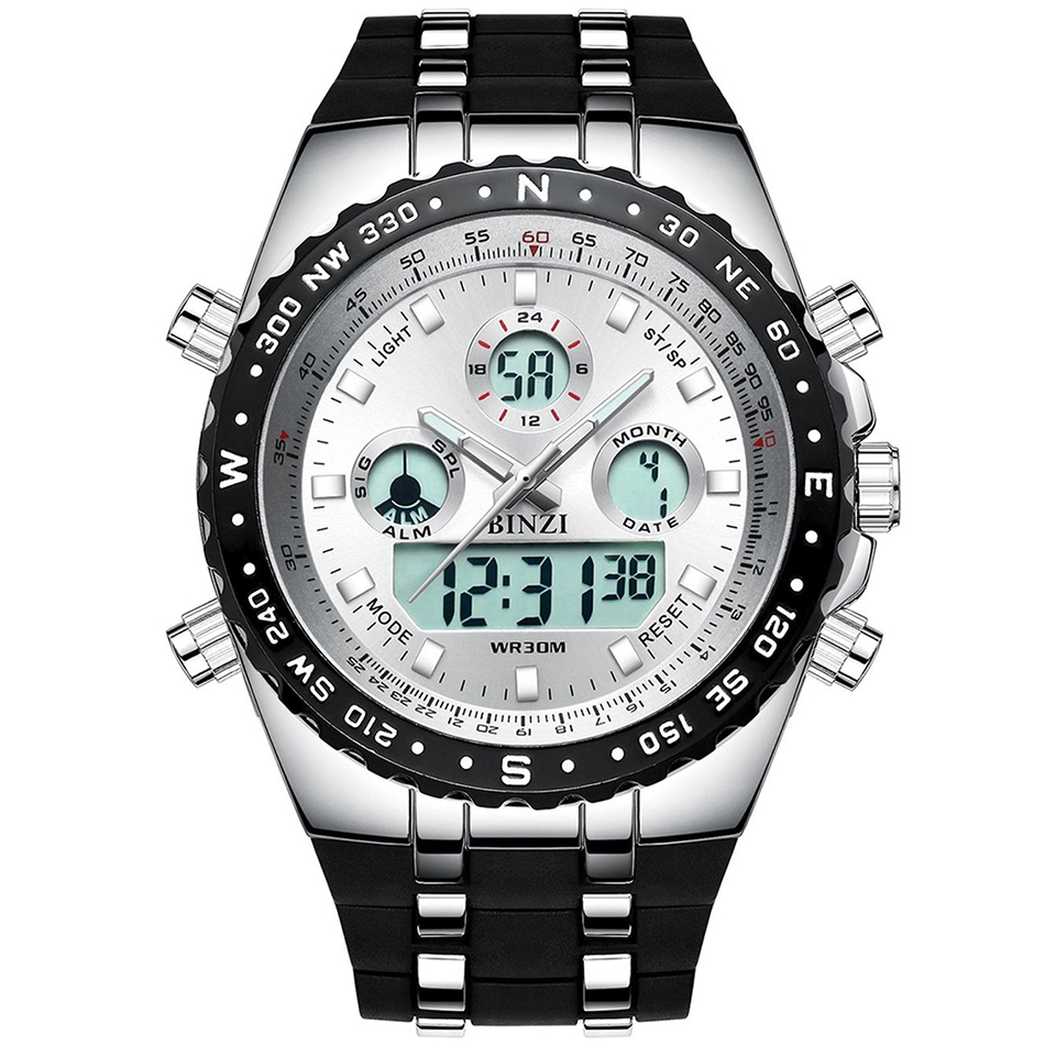 INFANTRY Aviateur Men Watches Luxury Square Big Dial Face ...  |Big Watches For Men
