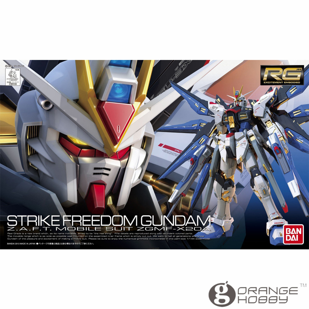 OHS Bandai RG 14 1/144 ZGMF-X20A Strike Freedom Gundam Mobile Suit Assembly Model Kits oh ohs bandai sd bb 385 q ver knight unicorn gundam mobile suit assembly model kits oh