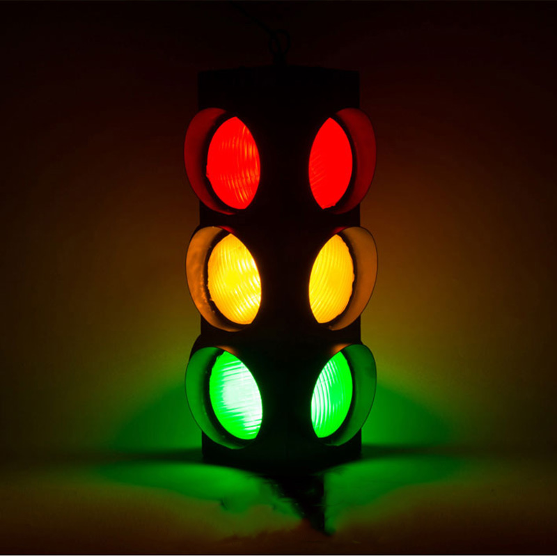 Retro LED Pendant Lights Loft Art Decorative Traffic Light Pendant Lamps For Bar Cafe Restaurant Shop Deco Pendant Lighting G136
