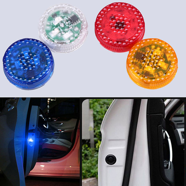 POSSBAY Car Door Wireless LED Warning Lights Opening Flashing Strobe Light Battery Power Red/Blue/Orange/RGB 3/5LED Signal Lamps