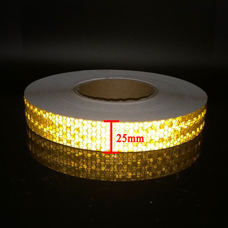 25mm width Reflective Stickers Strip Bicycle Reflective Tape Sticker Bicycle Wheel Bike Bicycle Accessories in Reflective Material from Security Protection