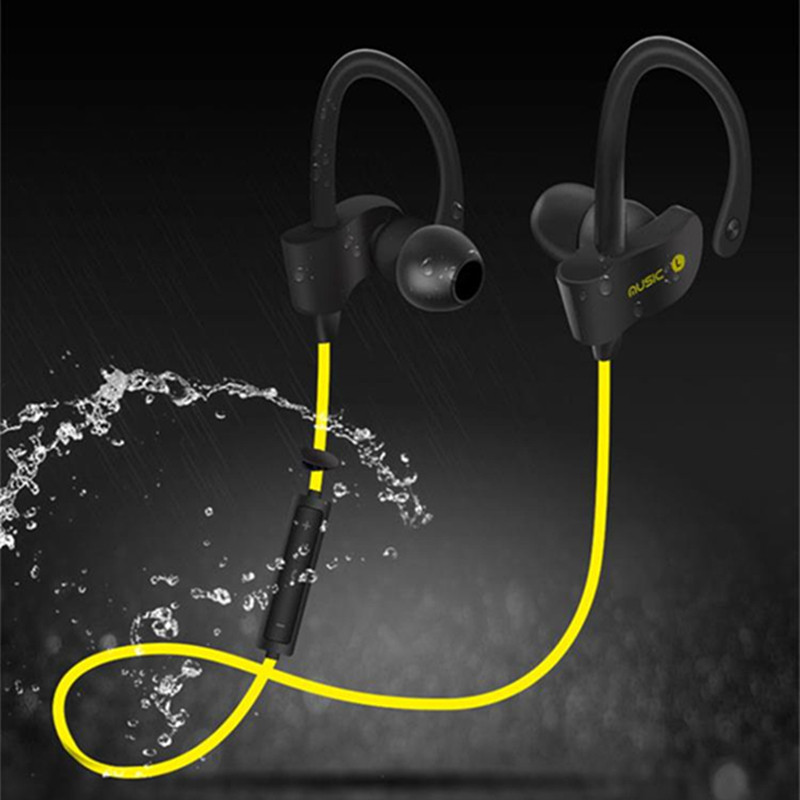 bilder für Komfortabel Headset Drahtlose Kopfhörer Bluetooth Ohrhörer Sport Lauf Stereo-ohrhörer mit Mikrofon für Smartphone
