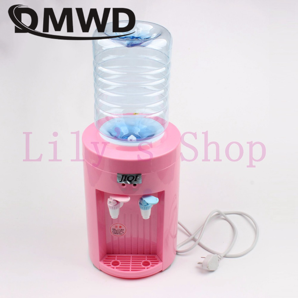 цена DMWD MINI warm hot Drink Machine 2.5L electric Cold Drink water Dispenser Desktop bottles tap faucet fountains small home office