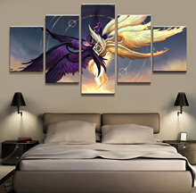 5 Panel Kayle/Morgana LOL League of Legends Game Canvas Printed Painting For Living Room Wall Art Decor HD Picture Works Poster