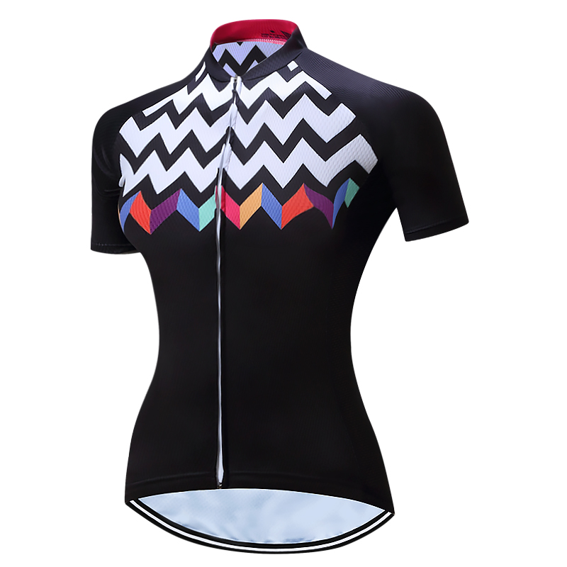 Race Cut Women's Cycling Jersey for Female Polyster Riding Bike Jerseys Road Track Aero Cycling Breathable Short Sleeve Summer