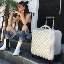 Модный чехол для костюма, 24 дюйма, набор для багажа, чехол на колесиках, Универсальный женский чемодан на колесиках, 20 дюймов, Корейская версия для женщин