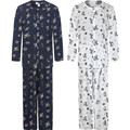 luxurious Middle-aged men pajamas Summer cotton silk sleepwear long-sleeve father lounge Pajama Set
