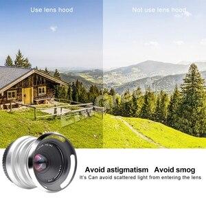 Image 4 - Объектив 7artisans 25 мм/F1.8 Prime для E Mount/для фотоаппаратов Fujifilm A7 A7II A7R A7RII X A1 X A10 металлическая бленда