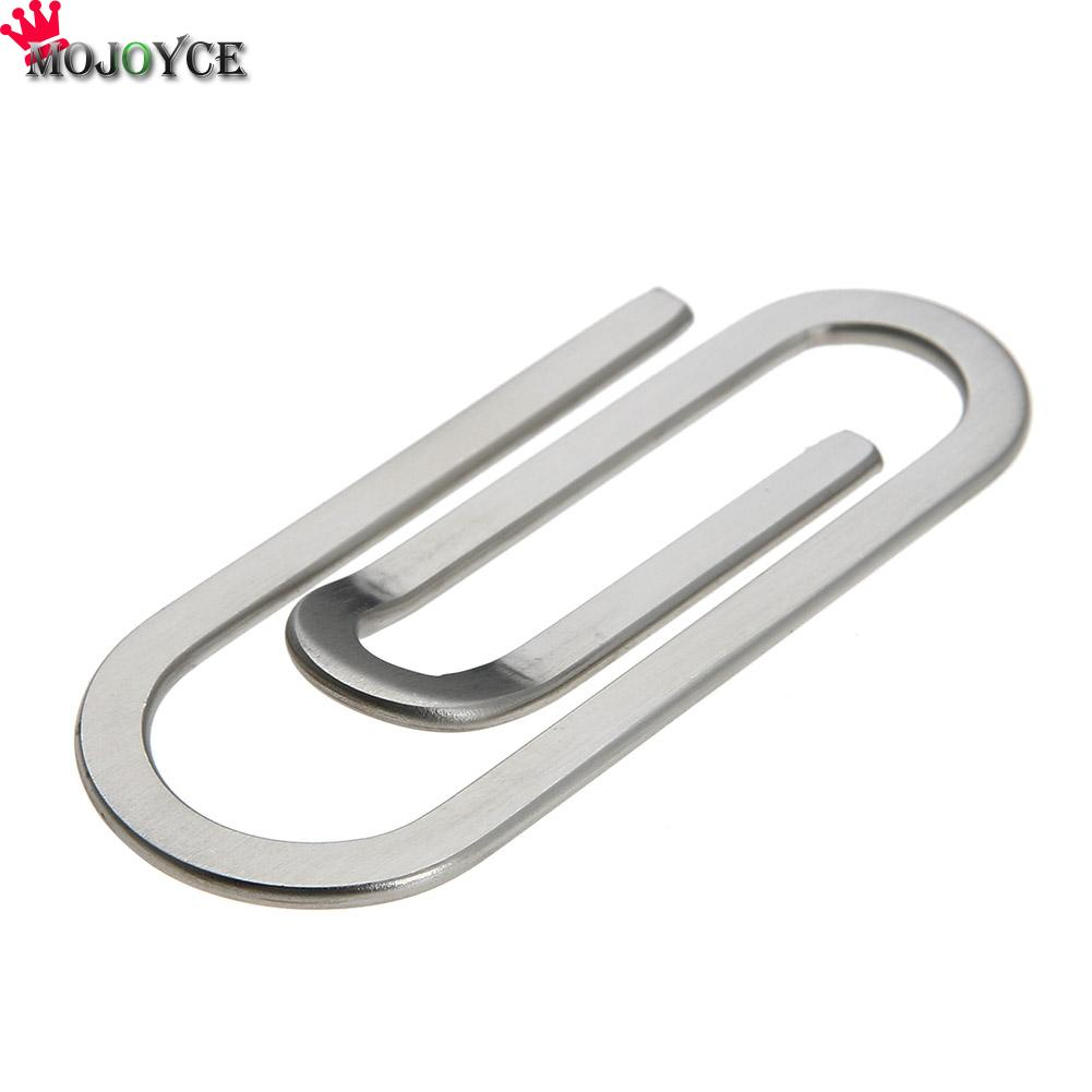 Stainless Steel Money Clips Metal Multi-Function Men Paper Clip Holder Folder Credit Card Portfolio Money Holder Silver Clip