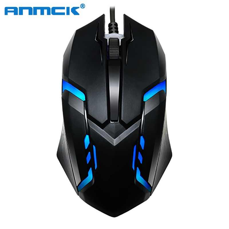 Anmck USB Wired Gaming Mouse For Computer Ergonomic Mini Optical Gamer Mice Professional Portable Game Mause For Laptop Desktop