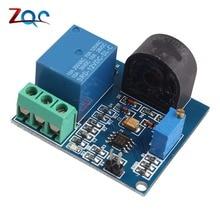 Модуль датчика обнаружения переменного тока 5 в 12 В 24 В релейный модуль защиты 5A переключатель защиты от перегрузки по току выход