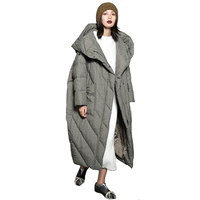 Зимняя теплая верхняя одежда зимние длинные стеганые пальто женская обувь на застежке молнии с капюшоном ультра длинный пуховик Для женщин