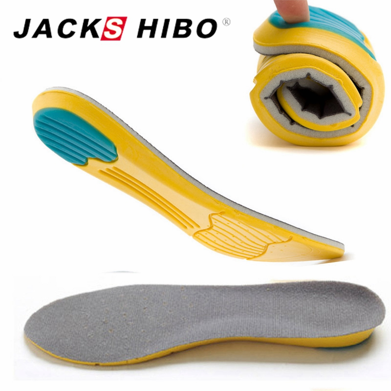 JACKSHIBO Soft Insoles Professional Cushion Foot Care Shoe Inserts Pad Shoe Gel Cool Deodorant Orthotic Silicone Insoles все цены