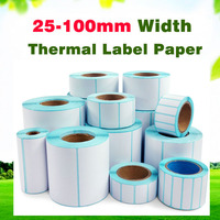 20-40mm width Thermal Label Sticker waterproof paper Supermarket Label Electronic Scale Price Tags Serial Number Bar code paper