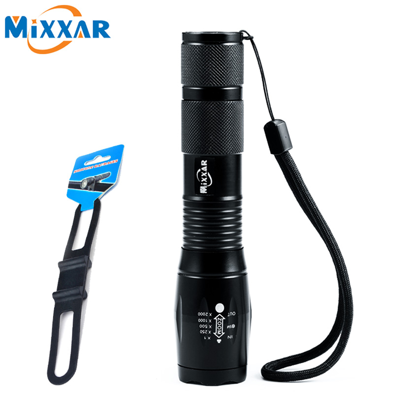 ZK20 CREE XML-T6 4000LM Bike Flashlight LED Bike Light Torch Bicycle Light With Silicone Strap Flashlight Holder for Cycling 6000lumens bike bicycle light cree xml t6 led flashlight torch mount holder warning rear flash light