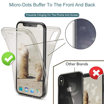 100pcs 360 Full Body Cover Case For iPhone Xs Max Xr X Soft Silicone Transparent Phone Case For iPhone 6 6s 7 8 Plus 5 5s Se