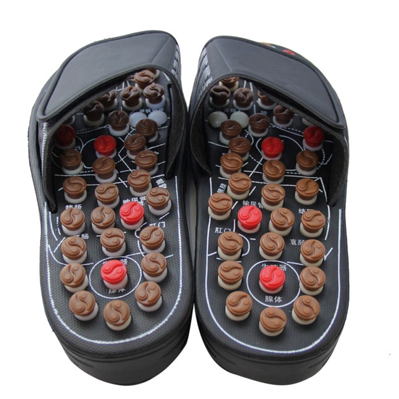 Foot Care Massager Shoes Stress Acupressure Massage Rotating Stimulator Magnet Therapy Massage Slippers Phisical Health Care electric antistress therapy rollers shiatsu kneading foot legs arms massager vibrator foot massage machine foot care device hot