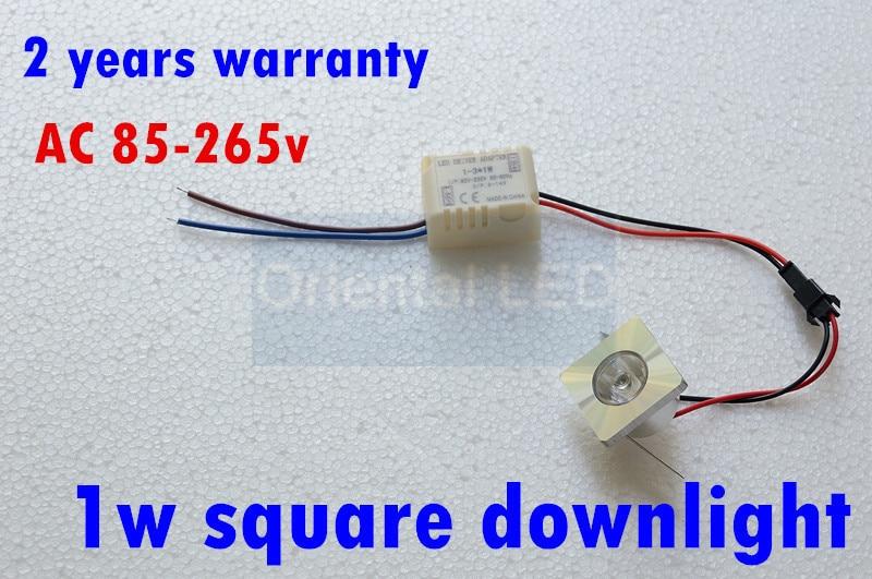 1W Mini square LED Star light, led cabinet light, mini led downlight 85-265v CE ROHS ceiling lamp free shipping