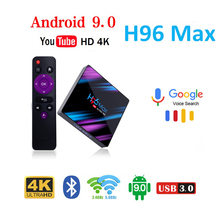 H96 MAX RK3318 Smart TV Box Android 9.0 4GB RAM 64GB youtube 4K WiFi Media Player Google Voice Assistant Support Netflix PLEX