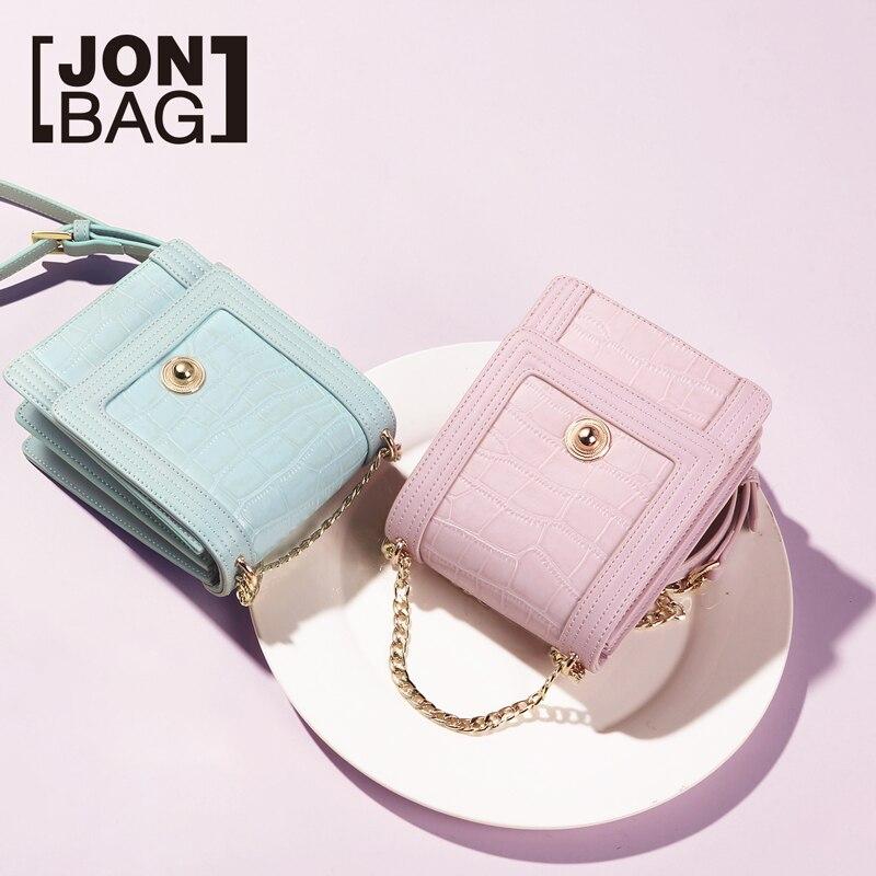 JONBAG petit sac 2019 printemps modèle nouvelle version coréenne de mode cent filles sac INS chaîne sac unique épaule oblique sacoche