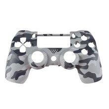 Boîtier avant coque visage housse peau protection Camouflage supérieure pour Sony Playstation 4 PS4 DualShock 4 V1 contrôleur Camouflage