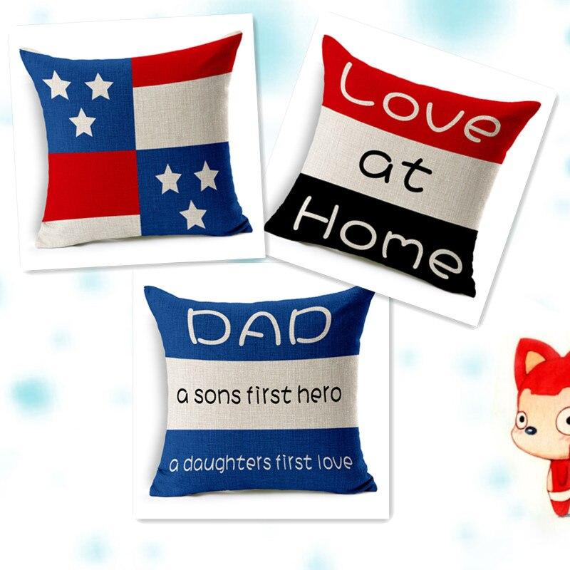Qualit lino divano cuscino cuscini covers lettera coussin cassa del cuscino cuscini - Cuscini decorativi per divano ...