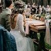 Beach Wedding Dress With Long Sleeves 2019 Vestido de noiva Vintage Lace Top Chiffon Skirt Boho Bridal Dresses Sweep Train