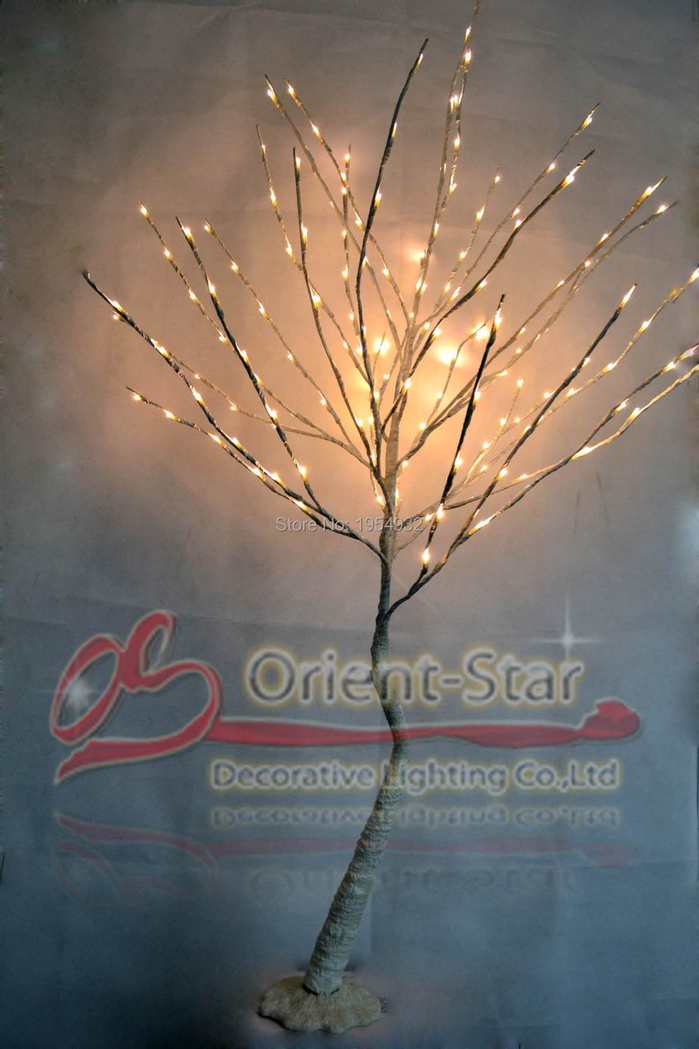 Special Offer 2PC/Lot 52 with 160PCs Blossom Plum Tree Light in 3V Voltage With Base, Branch Tree Light with blossome flowers - 3