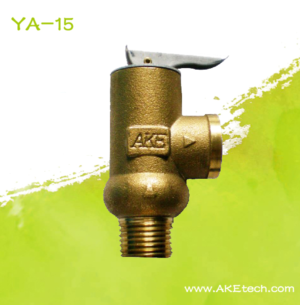 Brass Relief Valve 1/1.5/2/3/4/5/6/7/8/9/10Bar Opening Pressure Safety Valve YA-15 BSP1/2 for cold water pump protection pipe at 0017