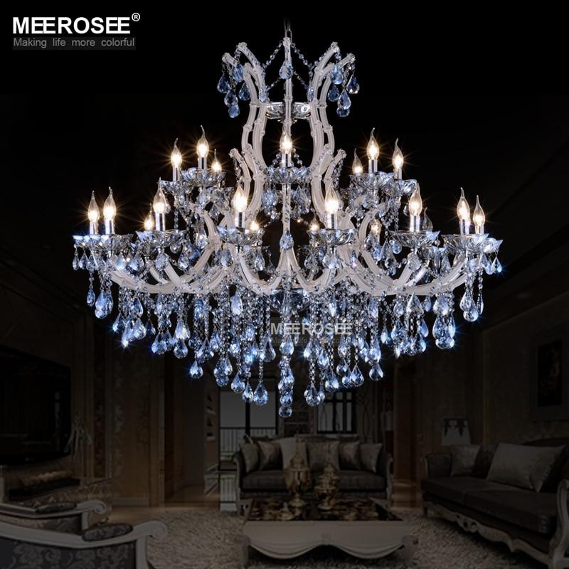 Niebieski Kolor Maria Theresa Kryształowy Żyrandol Lampa / - Oświetlenie wewnętrzne - Zdjęcie 2
