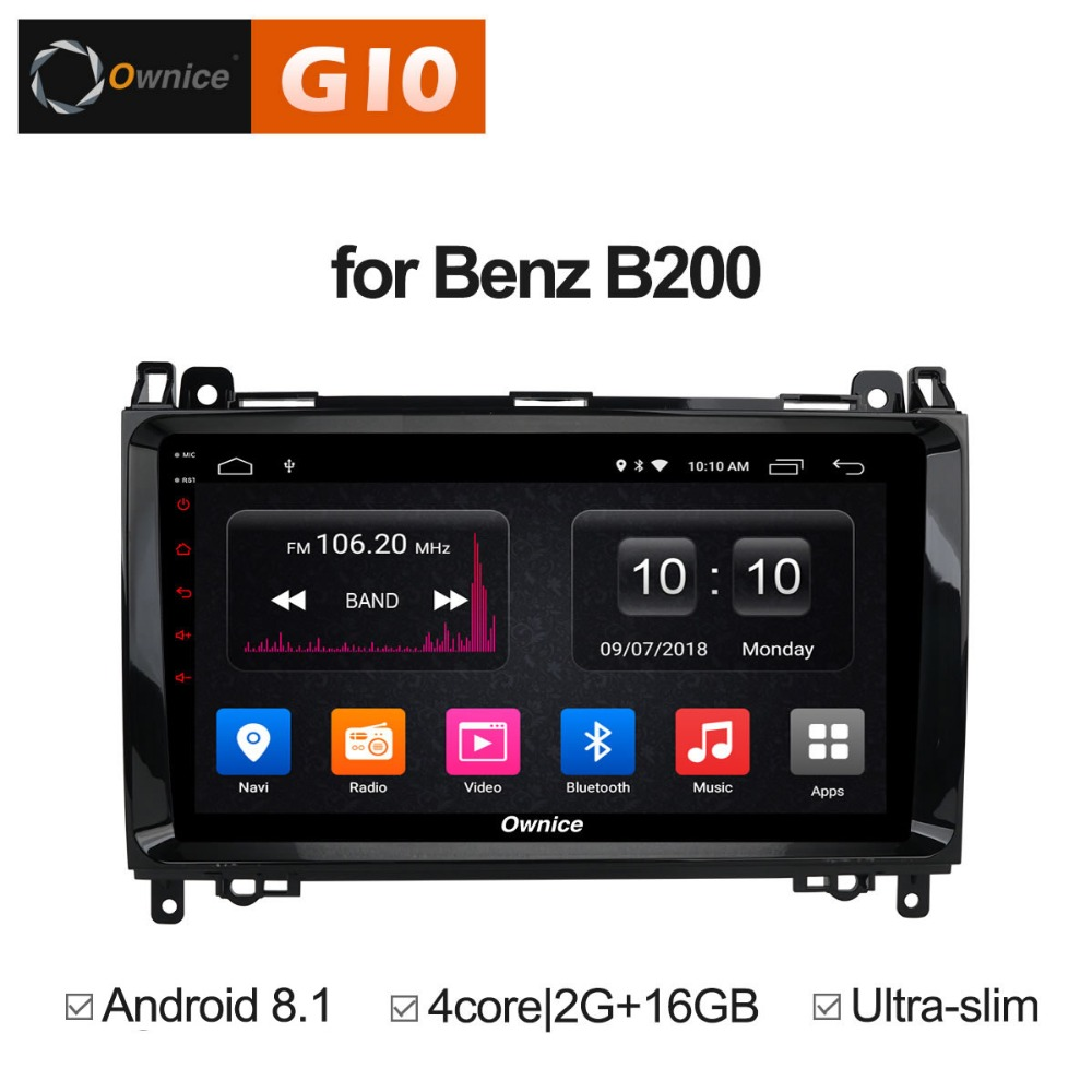 Quad Core Android 8.1 Car DVD Player For Mercedes Benz Sprinter A B Class B200 Vito Viano W906 W469 W245 W169 GPS Radio