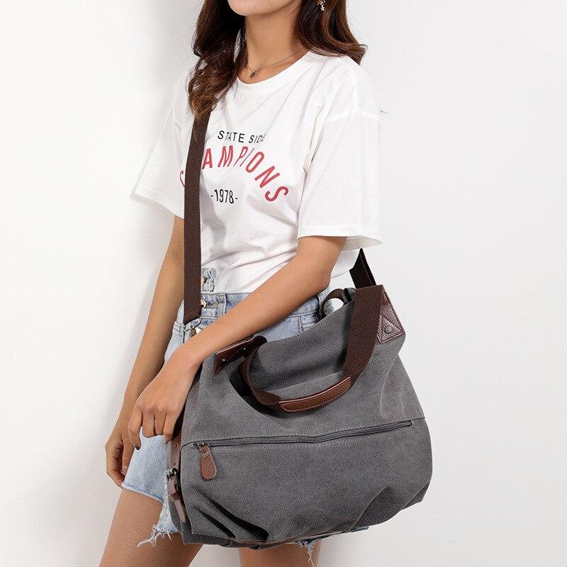 Beach Woman Canvas Bags Shoulder Bag Travel Handbags Crossbody Bag Tote
