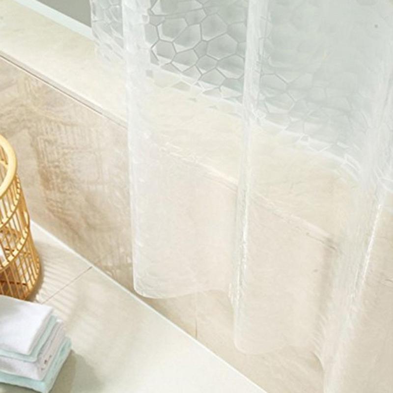 2.0X2.0m PEVA Bathroom Shower Curtains Moldproof Waterproof 3D Thickened Household Bathroom Shower Curtain Plastic Bath Screen-4