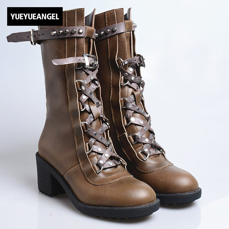 Sheepskin Shoes Female Waterproof Platform Boot Women Rivet Belt Buckle Womens Boots Fashion Western Fleece Lining Leather Shoes все цены