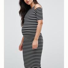 Мека рокля за бременни дамски тенискови летни летни ежедневни раирана бременност дрехи с къс ръкав плюс размер свободна дама Vestido