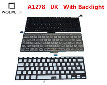 Genuine New A1278 UK Keyboard For Macbook Pro 13″ 2009-2012 Year With Backlight Language version UK Replacement
