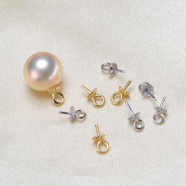 DIY Connectors S925 Sterling Silver Pearl pendant ComponentsJewelry FindingsCollocation Is Size 6-8 mm Jewelry