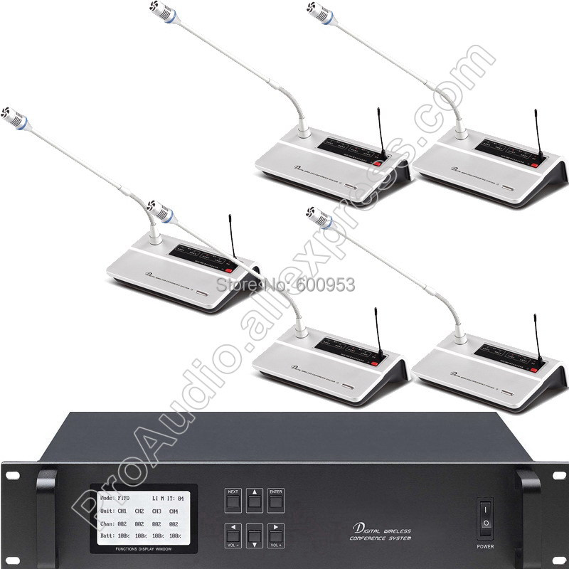 1 President 55 Delegate Unit Professional Gooseneck Desk Wireless Meeting Room Conference Microphone Mic System MiCWL A10M A100 in Microphones from Consumer Electronics