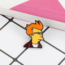 Cartoon brooch cartoon character enamel pin long mouth funny badge Denim Coat Lapel Badge fashion jewelry Gift